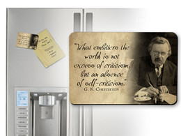 G.K. Chesterton Self-Criticism Quote Magnet