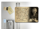 G.K. Chesterton Idolatry Quote Magnet