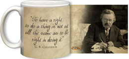 G.K. Chesterton Rights Quote Mug