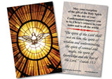 Holy Spirit Confirmation Holy Card