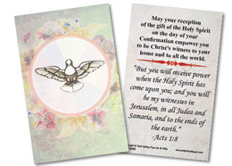 Spring Watercolor Dove Confirmation Holy Card