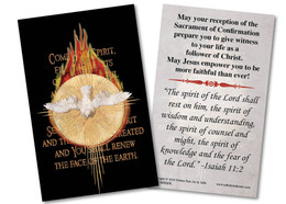 Holy Spirit Fire Confirmation Holy Card