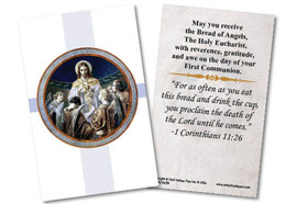Bread of Angels First Communion Holy Card II