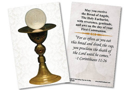 Chalice First Communion Holy Card III