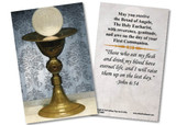 Chalice and Host First Communion Holy Card