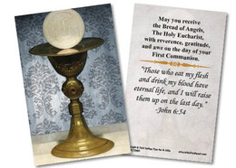 Chalice and Host First Communion Holy Card - Catholic to ...