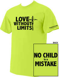 Love Without Limits Neon Yellow T-Shirts