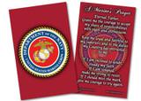Marine Corps Prayer Card