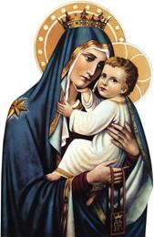 Our Lady of Mount Carmel Visor Clip