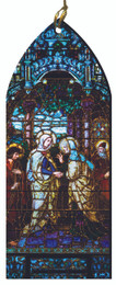The Visitation Stained Glass Wood Ornament