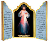 Spanish Divine Mercy Vilnius Original Triptych Plaque