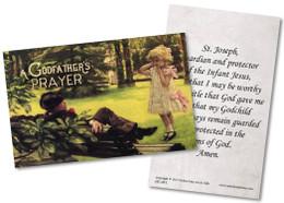 A Godfather's Prayer Holy Card