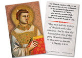 St. Stephen Diaconate Ordination Holy Card