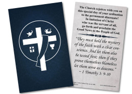 Diaconate Ordination Holy Card