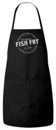 Fish Fry Apron (Black) Personalized