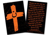 Orange Cross Project Prayer Card
