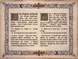 Latin-English Ave Regina Caelorum Poster