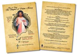How to Pray the Divine Mercy Chaplet Faith Explained Card