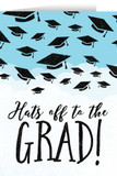 Hats Off Graudation Greeting Card