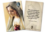 Our Lady of Fatima Immaculate Heart Quote Anniversary Holy Card