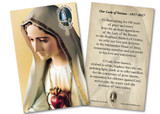 Our Lady of Fatima 100th Anniversary Holy Card