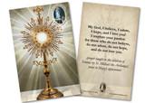 """Fatima """"My God, I Believe, I Adore"""" Holy Card"""