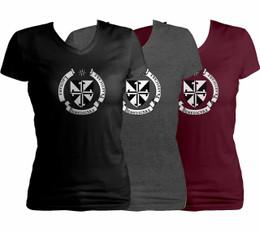 Dominican Shield Women's Cut V-Neck T-Shirt