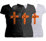 Orange Cross Project Martyr Solidarity Women's Cut V-Neck T-Shirt