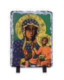 Our Lady of Czestochowa Vertical Slate Tile