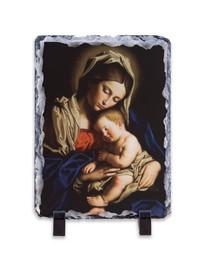 Madonna and Her Child Vertical Slate Tile