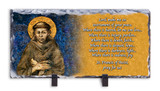 St. Francis Prayer Horizontal Slate Tile