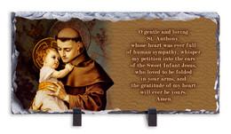 St. Anthony Prayer Horizontal Slate Tile