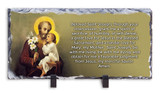 St. Joseph (Younger) Prayer Horizontal Slate Tile