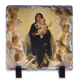 Queen of Angels Square Slate Tile