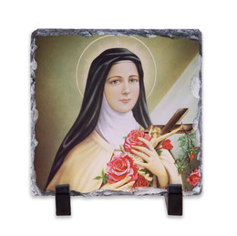 St. Therese of Lisieux Square Slate Tile