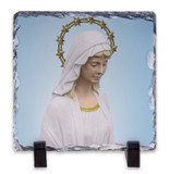 Our Lady Good Help Square Slate Tile