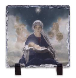 Star of Bethlehem Square Slate Tile