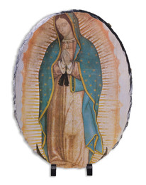 Our Lady of Guadalupe (Traditional) Oval Slate Tile