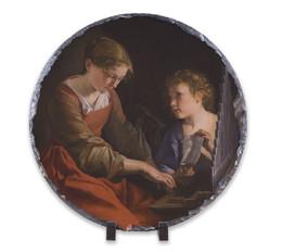 St. Cecilia Round Slate Tile