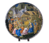 Adoration of the Magi Round Slate Tile