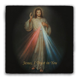 Divine Mercy Square Tumbled Stone Tile