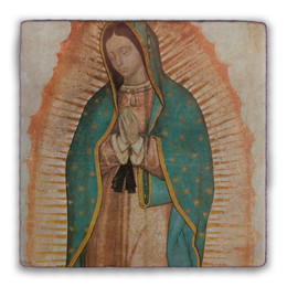 Our Lady of Guadalupe (Traditional) Square Tumbled Stone Tile