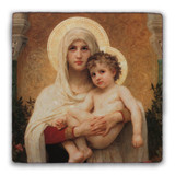 Madonna of the Roses Square Tumbled Stone Tile