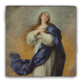 Immaculate Conception Square Tumbled Stone Tile