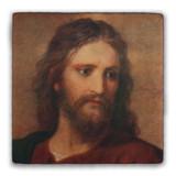 Christ at 33 Square Tumbled Stone Tile