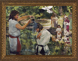 Baptism of Jesus by Jason Jenicke - Gold Framed Art