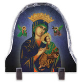 Our Lady of Perpetual Help Blue Arched Slate Tile