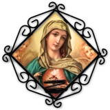 Immaculate Heart Surrounded by Angels Votive Candle Holder