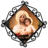 Madonna of Roses Votive Candle Holder
