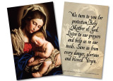 Madonna and Her Child Holy Card